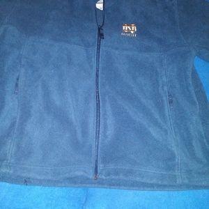 Men's Large Notre Dame fleece zipup